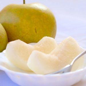 お弁当の梨の入れ方!変色する?塩水につけるべき?正しい方法はコレ!